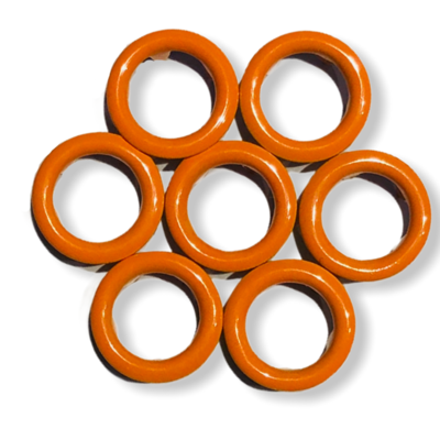 Orange snap buttons - 11 mm