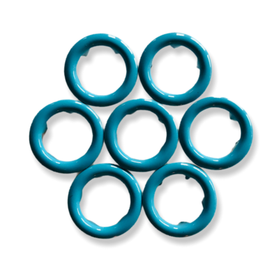 Blue snap buttons - 11 mm