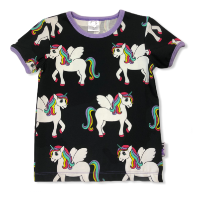 Black unicorn t-shirt