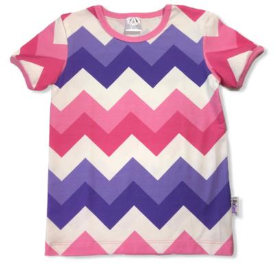 Purple/pink big chevron t-shirt