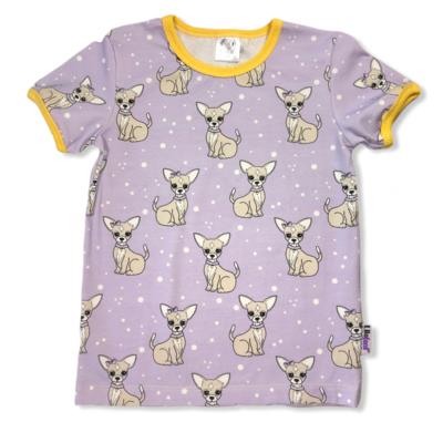 Purple chichuahua t-shirt