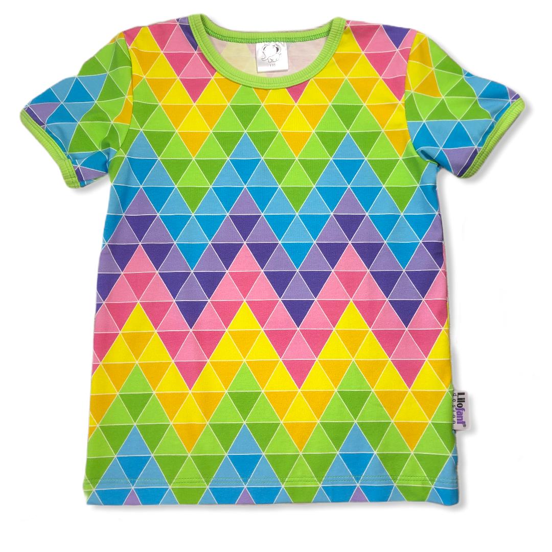 Sommar zigzag trianglar t-shirt