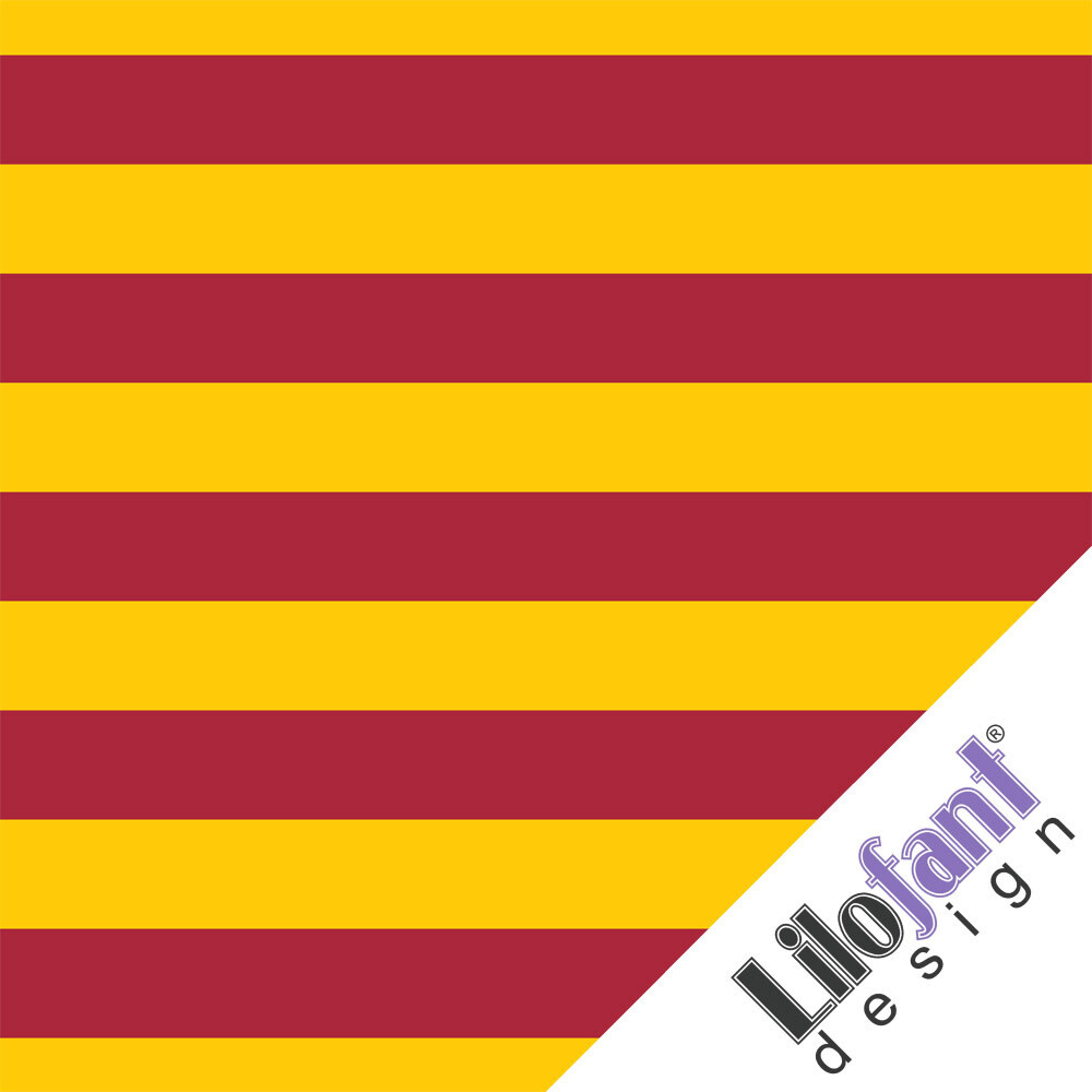 Red/yellow stripes - 0,9 meter