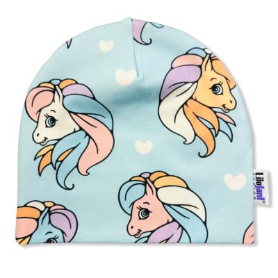 Blue ponies beanie