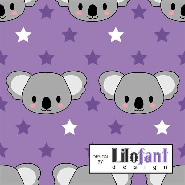 Purple koala - 1 meter