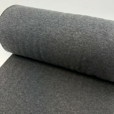 Dark grey melange cuffs (35 cm x 2)