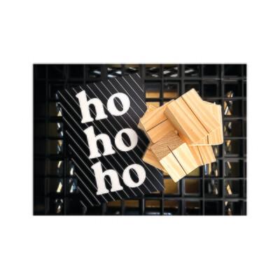 Reclaimed pine card holder