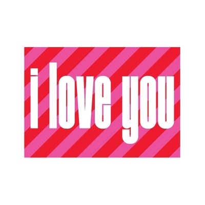 I love you stripes