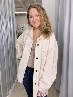 Cream Corduroy Jacket