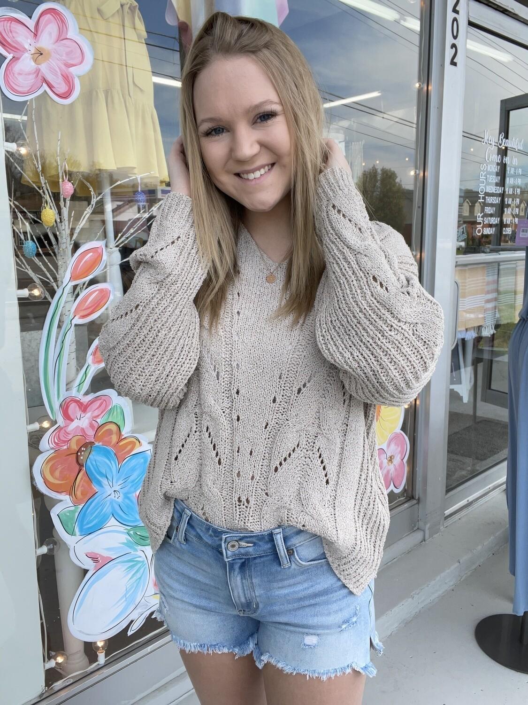 Mocha Summer Sweater
