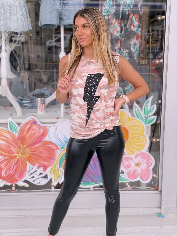 blk leather pants