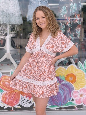 Floral ruffle baby doll
