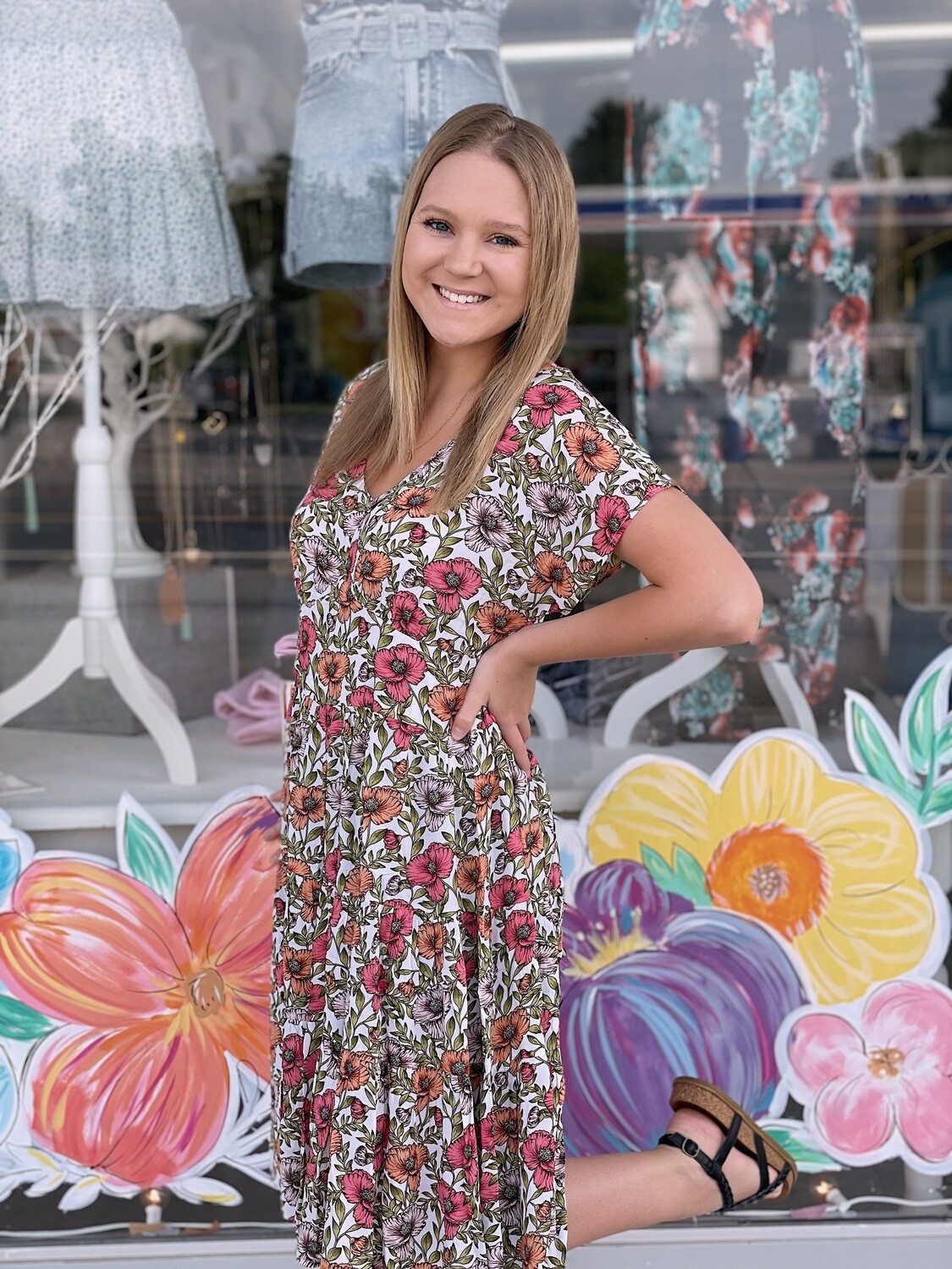 Grow With You Floral Dress