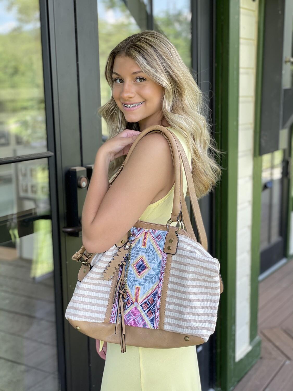 Aztec Stripe Handbag