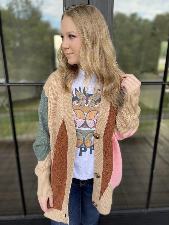 Geometric Slouchy Sweater