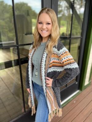 Aztec Sweater Cardigan