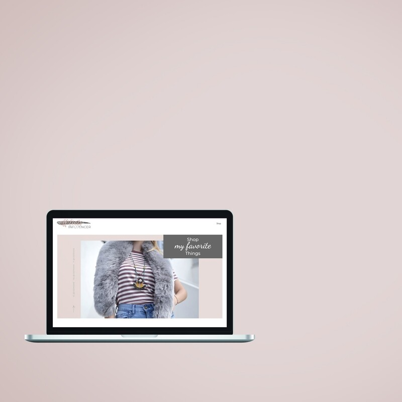 Wix Template :: My Favorites Template