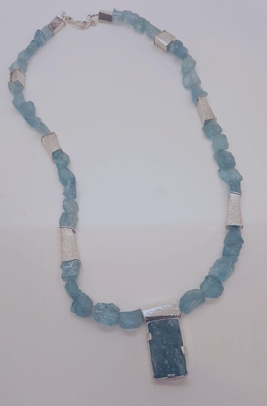Aquamarine Blue Necklace