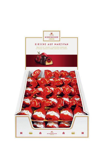 Niederegger Marzipan Cherry Praline - Counter Display - 680g/24.2 Oz