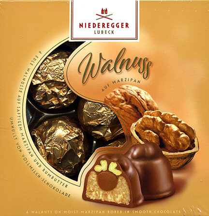 Niederegger Walnut on Marzipan Praline - 102g/3.55 oz