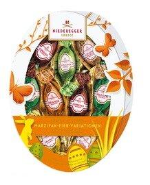 Niederegger Marzipan Asst Eggs - Oval Easter Egg Pkg-150 g/5.3 oz