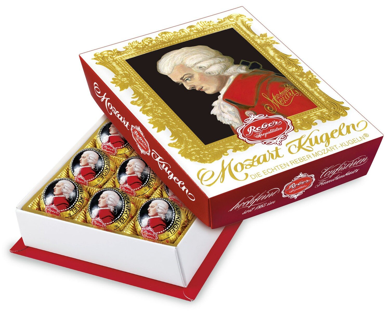Reber Marzipan Mozart-Barock 12er-Package in  Semi-sweet Chocolade