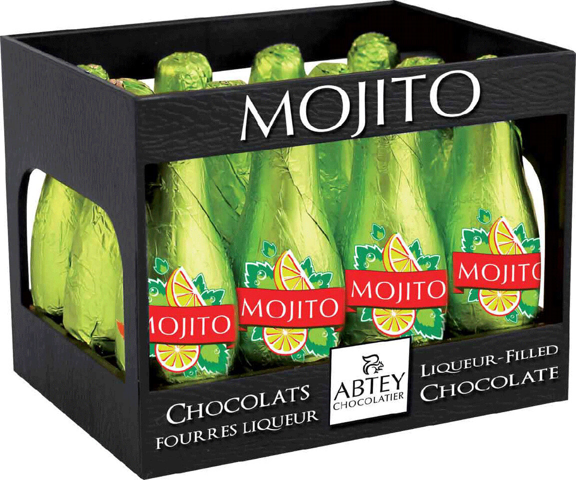 Abtey Mojito 12 Piece Chocolate Cocktails  - 110g/3.81 Oz