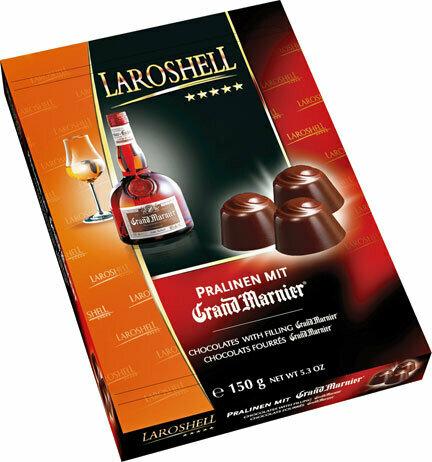 LaRoshell - Gran Marnier Liqueur Filled Pralines - 150g/5.2 oz