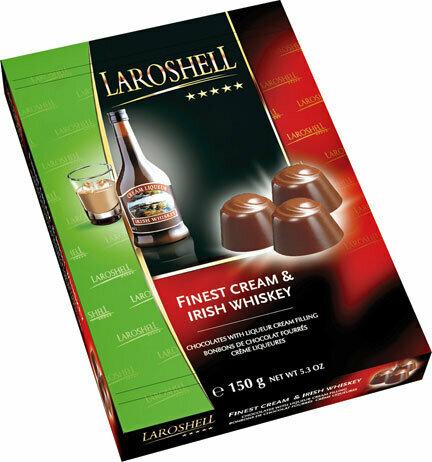 LaRoshell Finest Cream & Irish Whiskey Filled Chocolate