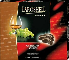 LaRoshell Brandy Filled Chocolate Beans - 400g/14.0 oz