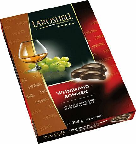 LaRoshell Brandy Filled Chocolate Beans - 150 g/5.25 oz