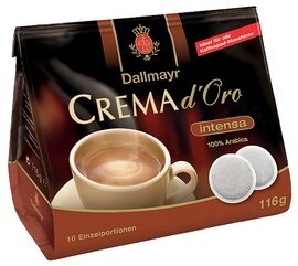 Dallmayr Crema d'Oro Intense Coffee Pads - 116g/4.06 oz