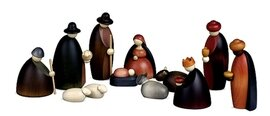 Bjoern Koehler Small Nativity Scene Figures - 12 cm colored and stained