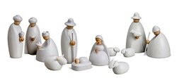 Bjoern Koehler Small Nativity Scene Figures - 12 cm SNOW WHITE
