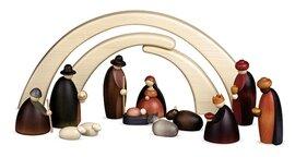 Bjoern Koehler - Small Nativity Scene - Stable and 12 Nativity Figures