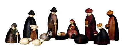 Bjoern Koehler - Large Nativity Scene Figures - 12 pieces