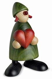Bjoern Koehler Kunsthandwerk - Gratulant Thea with heart