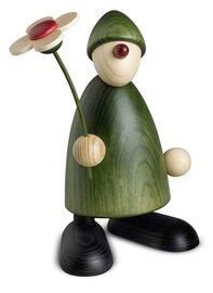 Bjoern Koehler Kunsthandwerk - Gratulant Phillip with Flower, green