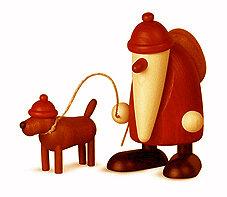 Bjoern Koehler Kunsthandwerk - Santa - with dog 'Waldemar'