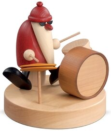 Bjoern Koehler Kunsthandwerk - Santa with percussion drums