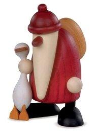 Bjoern Koehler Kunsthandwerk - Santa with Christmas Goose