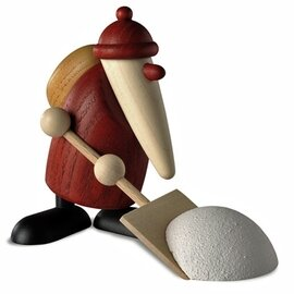 Bjoern Koehler Kunsthandwerk - Santa - with Snow Shovel