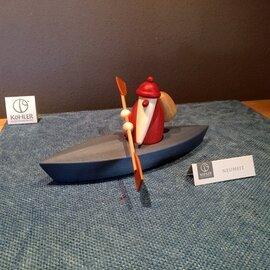 Bjoern Koehler Kunsthandwerk - Santa in canoe