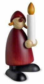 Bjoern Koehler Kunsthandwerk - Mrs. Santa with Christmas Candle. Large