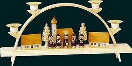 Glaesser Schwibbogen - Seiffener Village with Choir Boys
