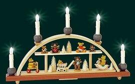 Glaesser Schwibbogen-Teddy-Bear Children Electrically illuminated