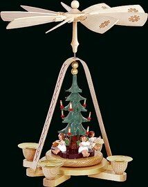 Glaesser - Pyramid Angel with Christmas Tree