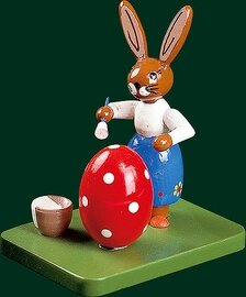 Richard Glaesser - Easter bunny busy painting egg