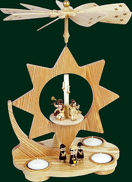 Glaesser Tea light Pyramid Star shaped, Choir with church village