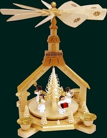 Glaesser - Pyramid Church and Angel bearing gifts
